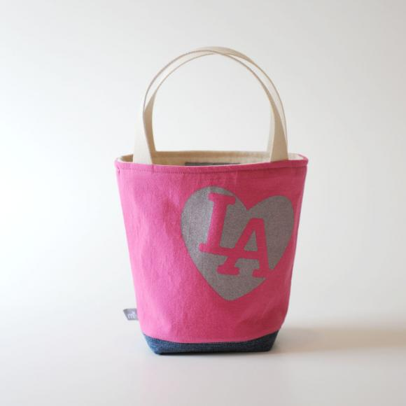 Mini Tote, I love LA All Pink